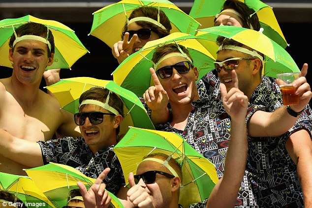 Celebrating Cricket fans